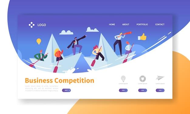 Business challenge concept landing page vorlage