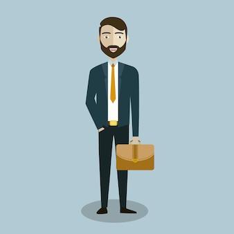 Business-charakter hintergrund