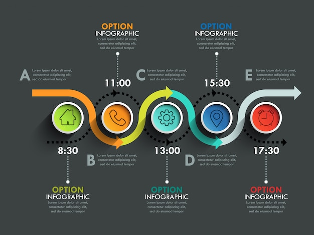 Business circle timeline banner