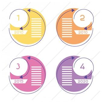 Business circular time line infografiken mit zahlen