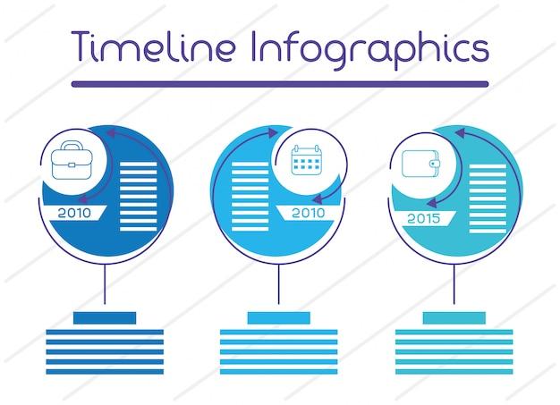 Business circular time line infografiken