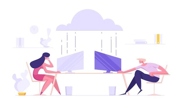 Business cloud storage datacenter hosting