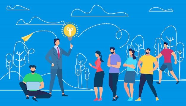 Business coacher training mitarbeiter im freien