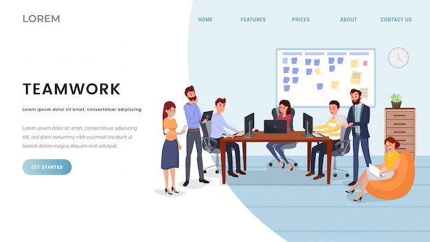 Business company landing page vorlage