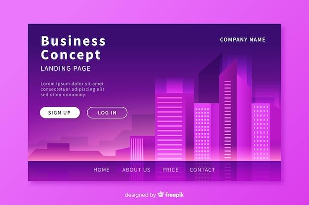 Business conceptlanding seitenvorlage