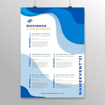 Business conference poster vorlage