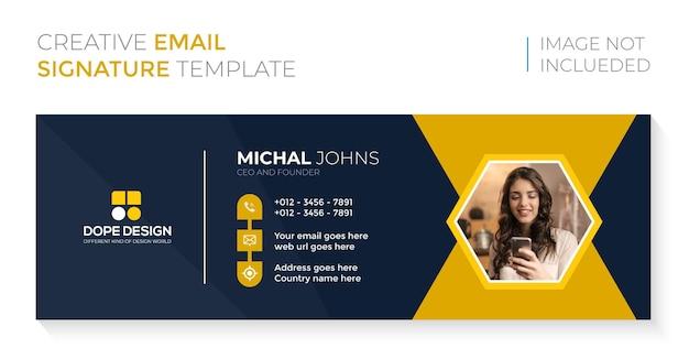 Business corporate professionelles e-mail-signaturdesign premium-vektor Premium Vektoren