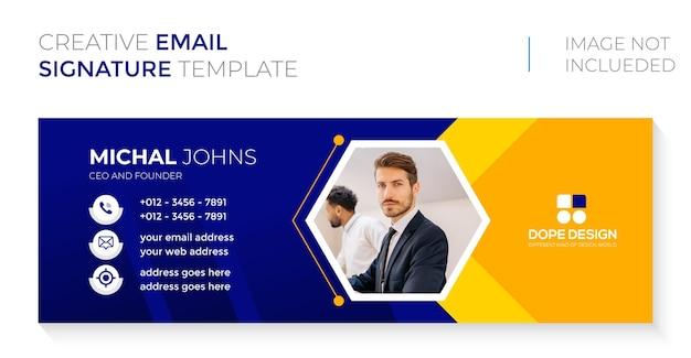 Business corporate professionelles e-mail-signaturdesign premium-vektor