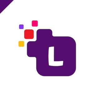 Business corporate quadrat brief schrift logo design