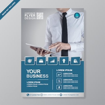 Business cover a4 flyer entwurfsvorlage