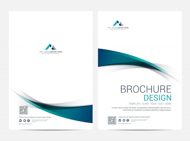 Business cover und back cover vorlage, korporatives minimalistisches design