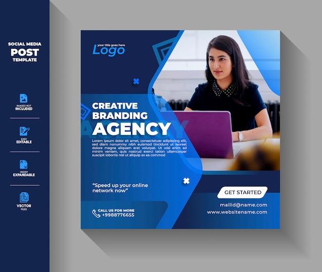 Business creative agency social media post