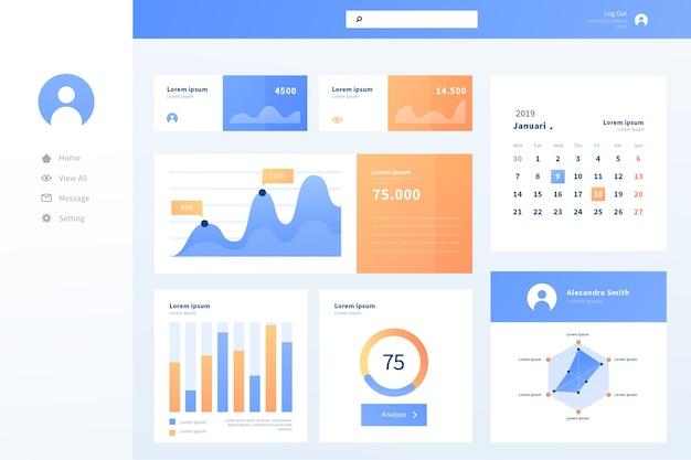 Business dashboard-benutzeroberfläche