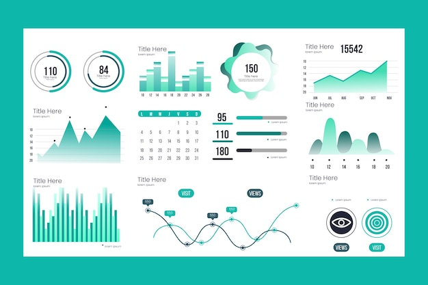Business dashboard elementsammlung