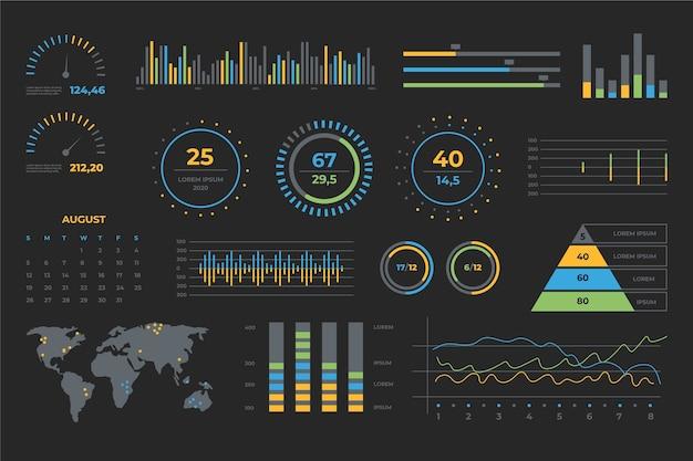 Business dashboard elementsatz