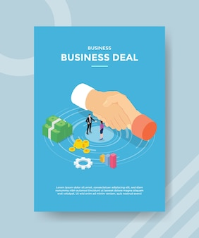 Business deal flyer vorlage