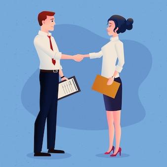 Business deal handshake