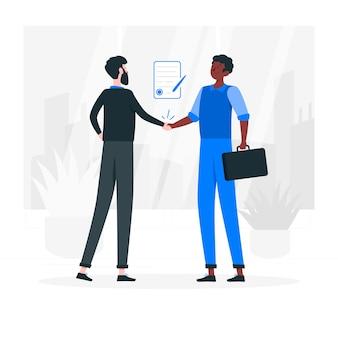 Business deal konzept illustration
