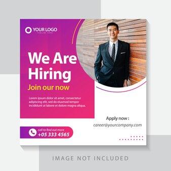 Business design vorlage design für web-banner