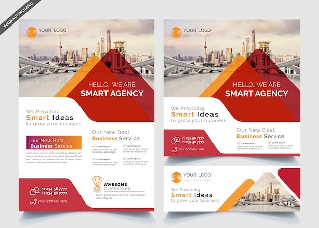 Business-design-vorlagen von banner und flyer