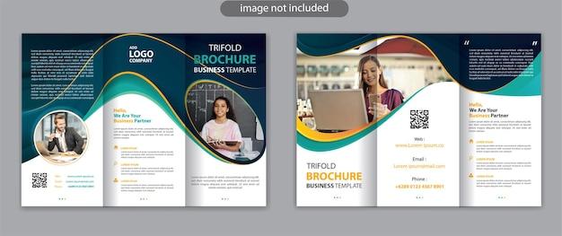 Business dreifach gefaltete broschürenvorlage