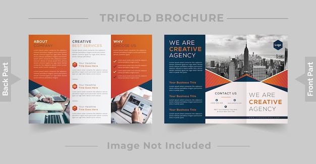 Business-dreifach- oder 3-fach-broschüren-design