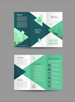 Business-dreifachbroschüre