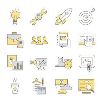 Business-Elemente Sammlung