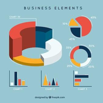 Business elementen infografik