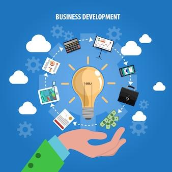 Business-entwicklungs-konzept