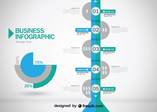 Business evolution infografik-design