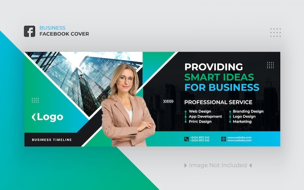 Business facebook cover banner design premium