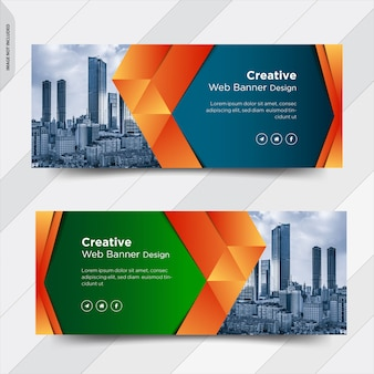 Business facebook cover social media banner post design