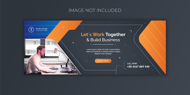 Business facebook cover social media post banner