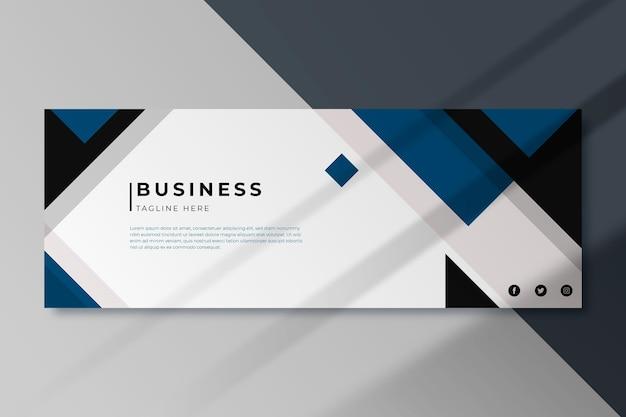 Business facebook cover vorlage Premium Vektoren