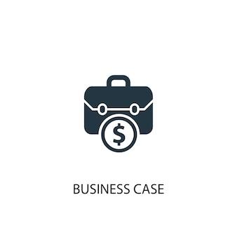 Business-fall-symbol. einfache elementabbildung. business-case-konzept-symbol-design. kann für web und mobile verwendet werden.