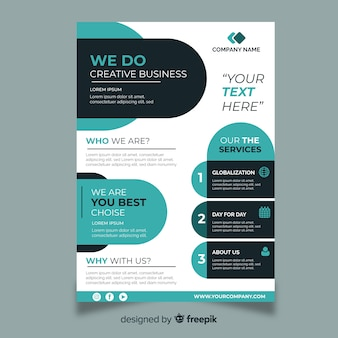 Business flyer abstrakte vorlage