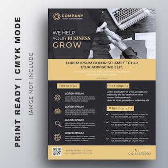Business flyer broschüre entwurfsvorlage