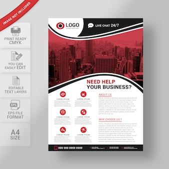 Business flyer designvorlage