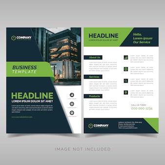 Business flyer designvorlage