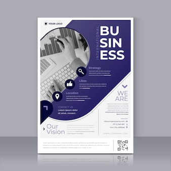 Business flyer druckvorlage