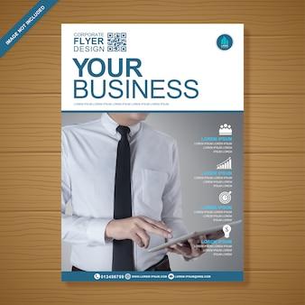 Business flyer entwurfsvorlage