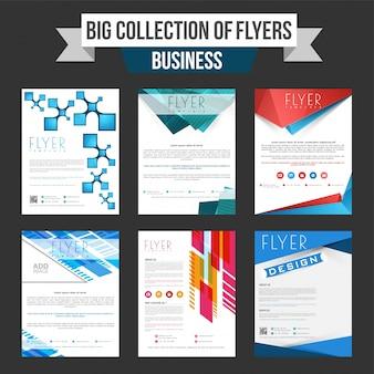 Business flyer große sammlung