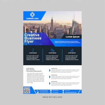 Business flyer modernes design-vorlage