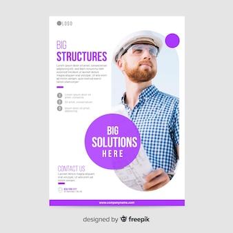 Business flyer mosaik vorlage