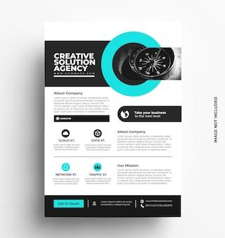 Business flyer vorlage broschüre mit foto