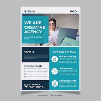 Business flyer vorlage für kreative digitale marketingagenturen