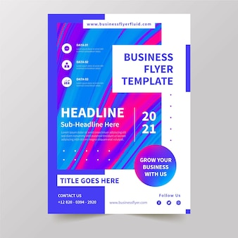 Business flyer vorlage konzept