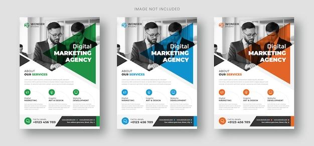 Business-flyer-vorlage mit foto