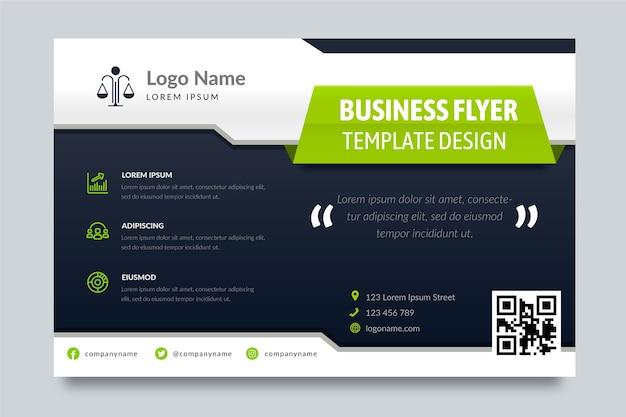 Business flyer vorlage mit verschiedenen formen